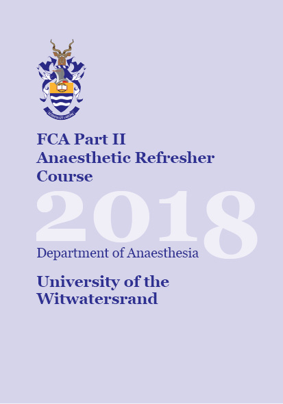 View FCA Anaesthetic Refresher Course 2018